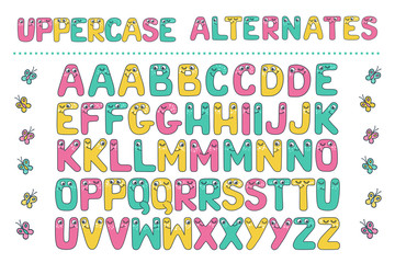 Big set of cute letters fom Kids alphabet