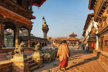Bhaktapur Durbar Square in Morning Light, Nepal