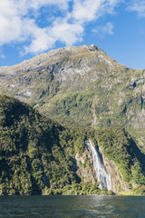 Bowen Falls. Milford Sound. Fiordland national park, South island, New Zealand