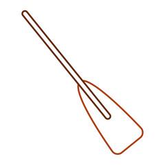 wooden boat oar sport object element vector illustration line color design