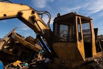 Crane in the scrapyard
