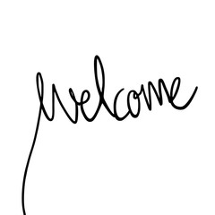 welcome continuous line message