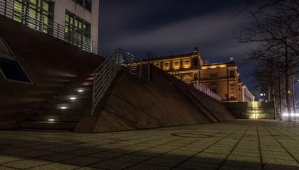 Kunsthalle in Hamburg bei Nacht