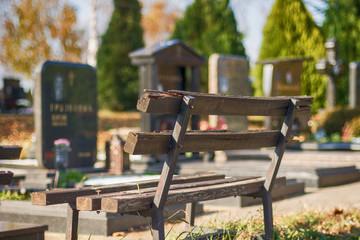 Belgrade, Serbia- October 31, 2016: An editorial stock photo of a Cemetery/Graveyard in Belgrade 'Lešće' in Serbia.