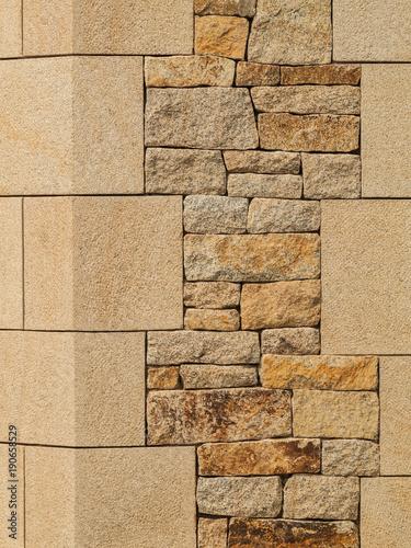 Natursteinmauerwerk Mit Ecksteinen Aus Natürlichem Granit   Natural Stone  Masonry With Natural Granite Corner Stones