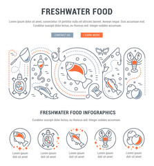 Website Banner and Landing Page of Freshwater Food.