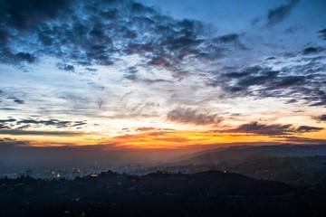 Hollywood et Los Angeles la nuit