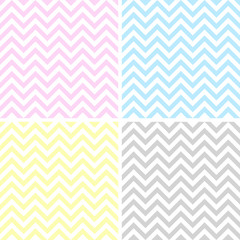 Set of 4 zigzag patterns