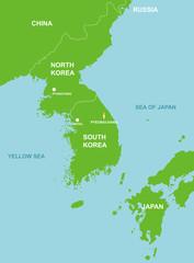 Pyeongchang / South korea and surrounding countries map