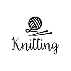 Knitting vector icon