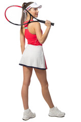 Woman tennis player isolated