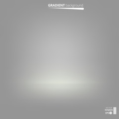 Gradient Gray and White Abstract Background. Vector Illustration. EPS 10