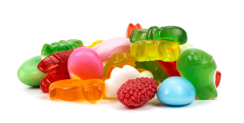 gummy bear  on a white background