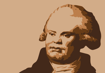 Danton - révolution - portrait - révolutionnaire - personnage historique - guillotine
