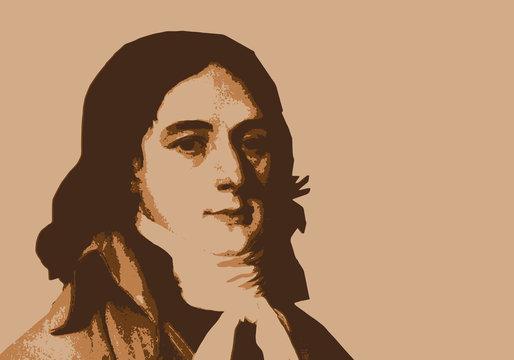 Camille Desmoulins - révolution - portrait -révolutionnaire - personnage historique - guillotine
