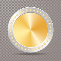 silver gold coin star