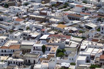 Typical greek architecture on Rhodes Island, Greece