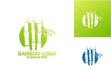 Bamboo Logo Template Design Vector, Emblem, Design Concept, Creative Symbol, Icon