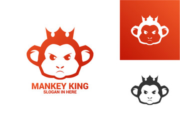 Logo Template Monkey King Design Vector, Emblem, Design Concept, Creative Symbol, Icon