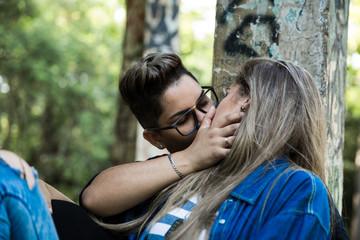 Lesbian Couple Enjoying the Moment