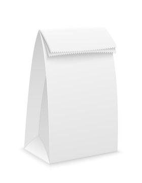 white paper packaging stock vector illustration
