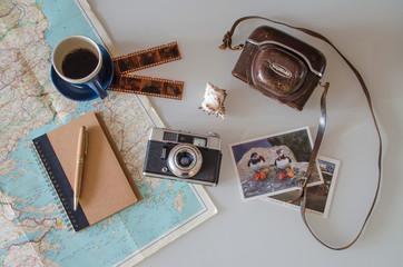 Preparation for traveling - travel set