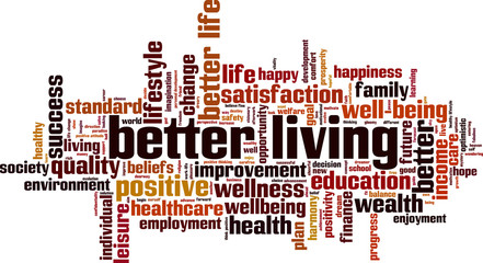Better living word cloud