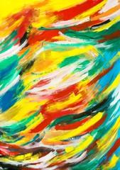 """Gemälde """"Neue Farben"""" von Carola Vahldiek (Gouache-Farben auf Papier)"""