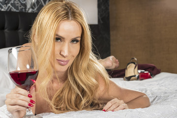 Blonde Model At Home