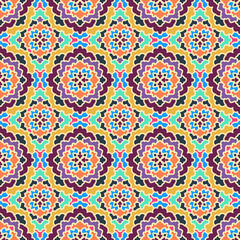 Vector Abstract Seamless Pattern. Vintage Geometric East Ornament Pattern. Ethnic decorative elements for print and cloth, fabrics and canvas texture or any other kind of design. Boho Style.