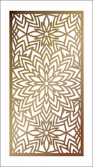Vector Laser cut panel. Abstract Pattern template for decorative panel. Template for interior design, layouts wedding invitations, gritting cards, envelopes, decorative art objects etc.