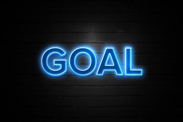 Goal neon Sign on brickwall