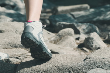 Hiker Foot Closeup