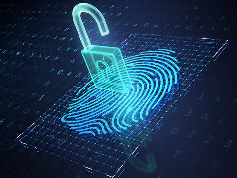 Online banking and fingerprint authentication technology.