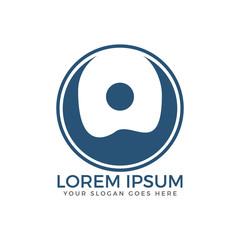 Happy Human round logo design.