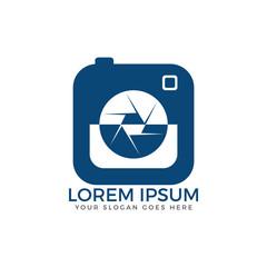 Photo camera logo design. Photographer logo. Photo studio sign.