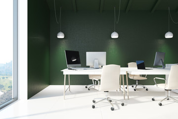 Green open space office interior