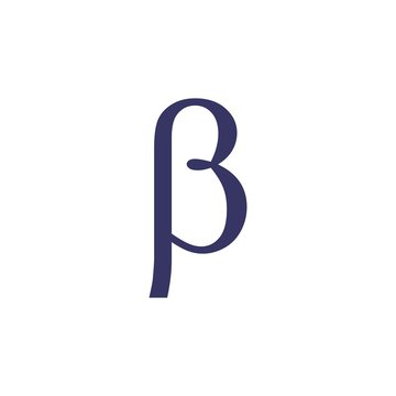 letter betha greek symbol logo vector