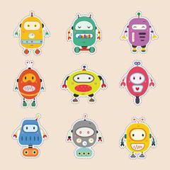 robot sticker set