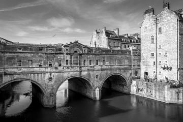 the old bridge in bath