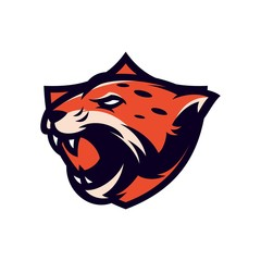 jaguar - vector logo/icon illustration mascot