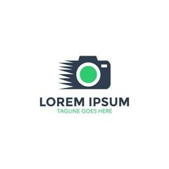 unique photography logo. vector illustration. camera. lens. icon
