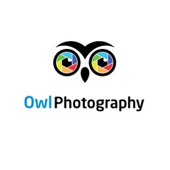 Owl, Lens, Photography Logo