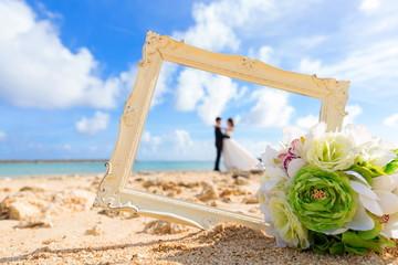 浜辺の結婚式