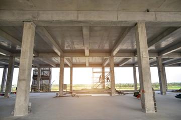 concrete structure construction site no body for background