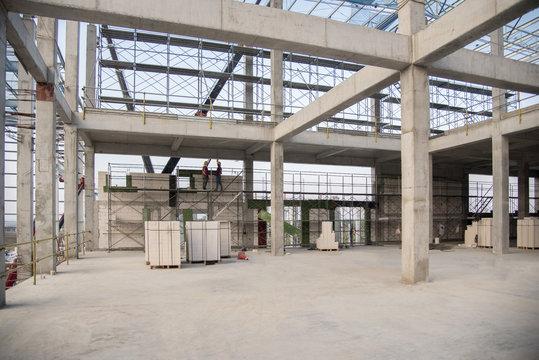 Concrete structure beam column slab epoxy floor