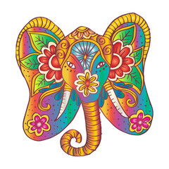 Elephant  with floral ornament