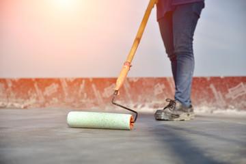construction worker paint
