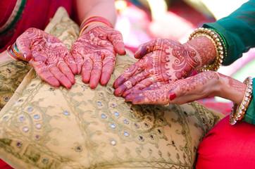 henna design, bride , Hindu wedding , Rajasthan, India