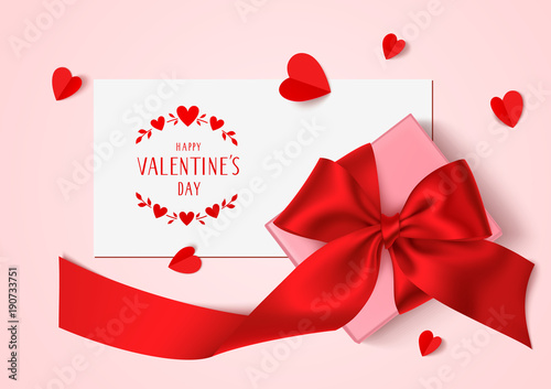 Happy Valentines Day Template Design Vector Background With